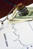 Crisi del mercato finanziario Immagini Stock Libere da Diritti