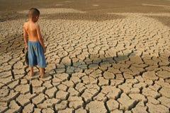 Crisi dell'acqua di riscaldamento globale Fotografia Stock Libera da Diritti