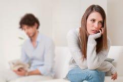 Crisi delle coppie e di conflitto Fotografia Stock