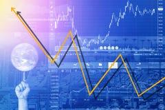 Crisi di affari e di problemi economici Fotografie Stock Libere da Diritti