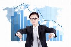 Crisi di affari globali Immagini Stock