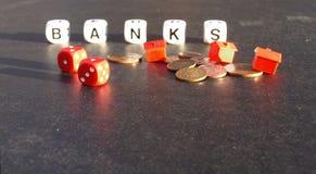 Crisi di attività bancarie Immagine Stock Libera da Diritti