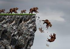 Crisi di caduta del mercato di orso Fotografia Stock Libera da Diritti