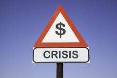 Crisi di $ di attenzione Fotografie Stock