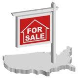 Crisi di ipoteca Fotografia Stock