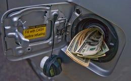 Crisi di prezzi di gas Fotografia Stock