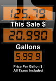 Crisi di prezzi di gas immagine stock libera da diritti