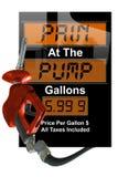 Crisi di prezzi di gas Immagine Stock