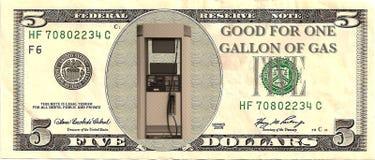 Crisi di prezzi di gas Fotografie Stock
