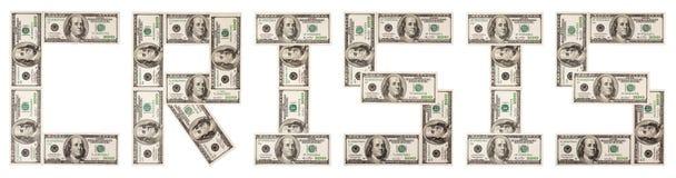 Crisi, dollari, uno Fotografia Stock