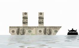 crisi economica Fotografie Stock Libere da Diritti
