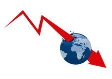 Crisi economica di mondo Fotografia Stock