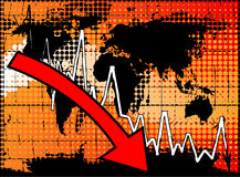 Crisi economica globale Fotografie Stock Libere da Diritti