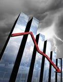 Crisi economica imminente Fotografie Stock Libere da Diritti