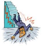 Crisi economica (vettore) Fotografie Stock
