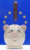 Crisi finanziaria di Unione Europea Immagini Stock