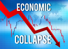 Crisi finanziaria economica di crollo Immagini Stock