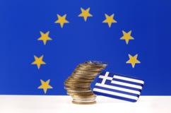 Crisi finanziaria greca Fotografia Stock