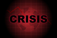 Crisi globale Fotografia Stock Libera da Diritti