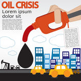 Crisi petrolifera. royalty illustrazione gratis