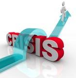 Crisi - sormontare un'emergenza Fotografie Stock Libere da Diritti