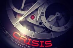 Crisi sul meccanismo automatico dell'orologio degli uomini 3d Immagine Stock Libera da Diritti