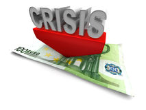 Crisis. 3d Very beautiful three-dimensional illustration Stock Images