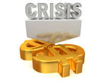 Crisis. 3d Very beautiful three-dimensional illustration Stock Image