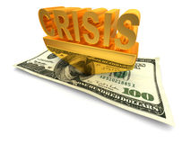 Crisis. 3d Very beautiful three-dimensional illustration Stock Photo