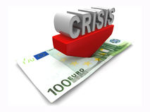 Crisis. 3d Very beautiful three-dimensional illustration Royalty Free Stock Photo