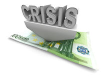 Crisis. 3d Very beautiful three-dimensional illustration Royalty Free Stock Image