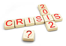 Crisis of 2012. Concept (computer generated Royalty Free Stock Photo