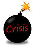 Crisis. Urgent crisis, like a bomb going off in a few seconds Stock Photos