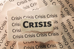 Crisis. Picture of a word crisis Royalty Free Stock Photography