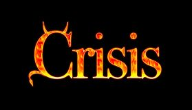 Crisis. Illustration with a Devil crisis Royalty Free Stock Photo