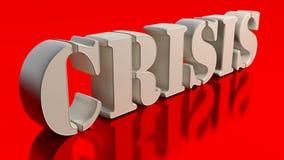Crisis Imagen de archivo libre de regalías