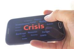 crisis Imagenes de archivo