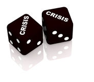 Crisis. Playing cubes with an inscription crisis Royalty Free Stock Photography