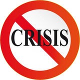 Crisis. To stop global industrial and financial crisis Stock Image