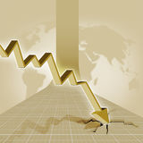 Crisis. Economic crisis and charts are down stock illustration