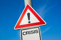 crisis Imagen de archivo