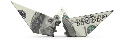 The crisis of the American economy. Concept Royalty Free Stock Image