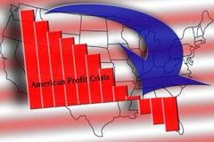 Crisis americana del beneficio Foto de archivo