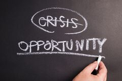 Free Crisis And Opportunity Chalk Writing Royalty Free Stock Images - 176478209