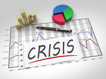 Crisis as concept. Crisis and management as a concept Stock Images