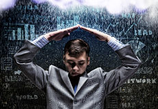 Crisis in business Stock Image