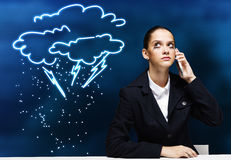 Crisis in business Royalty Free Stock Image