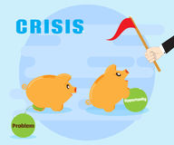 Crisis is the challenges and opportunities. Overcoming problems, achieving success. Positive attitude to the crisis Royalty Free Stock Image