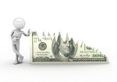 Crisis chart dollar Royalty Free Stock Photo