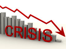 Crisis. Chart of falling Stock Photo